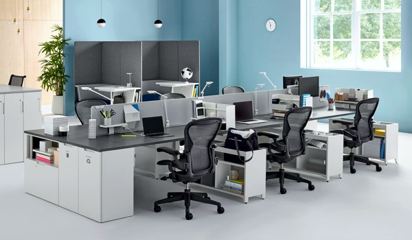 Metal frame office furniture