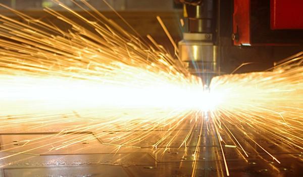 Laser cutting sparks