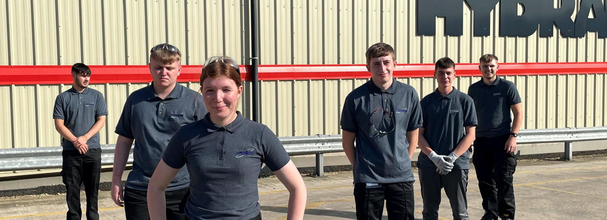 2021 new apprentices at Hydram