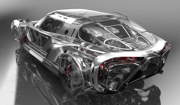 CAD design of a car