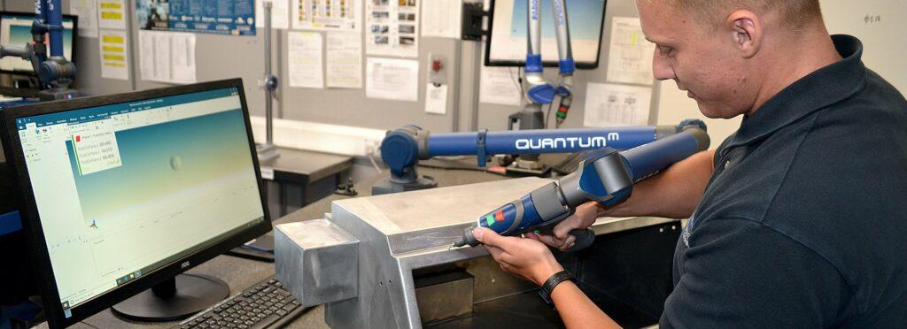 QuantumM FARO arm in use