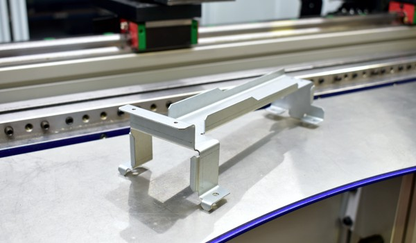 Folded part on a pressbrake