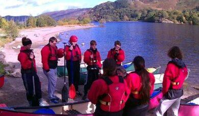 Group kayaking