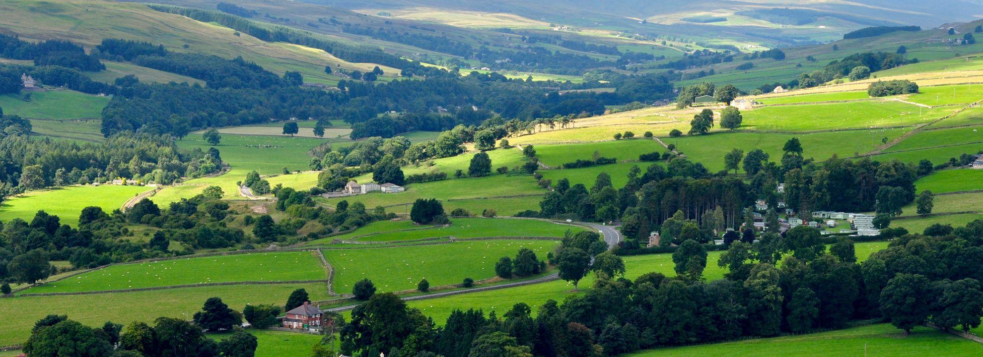 Weardale hills, County Durham